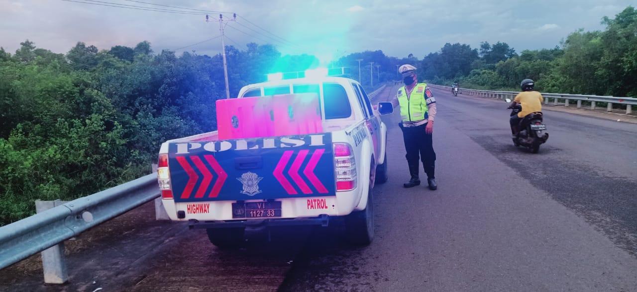 Memastikan Keamanan Wilayah, Sat Lantas Polres Ketapang Tingkatkan Patroli Sore Hari