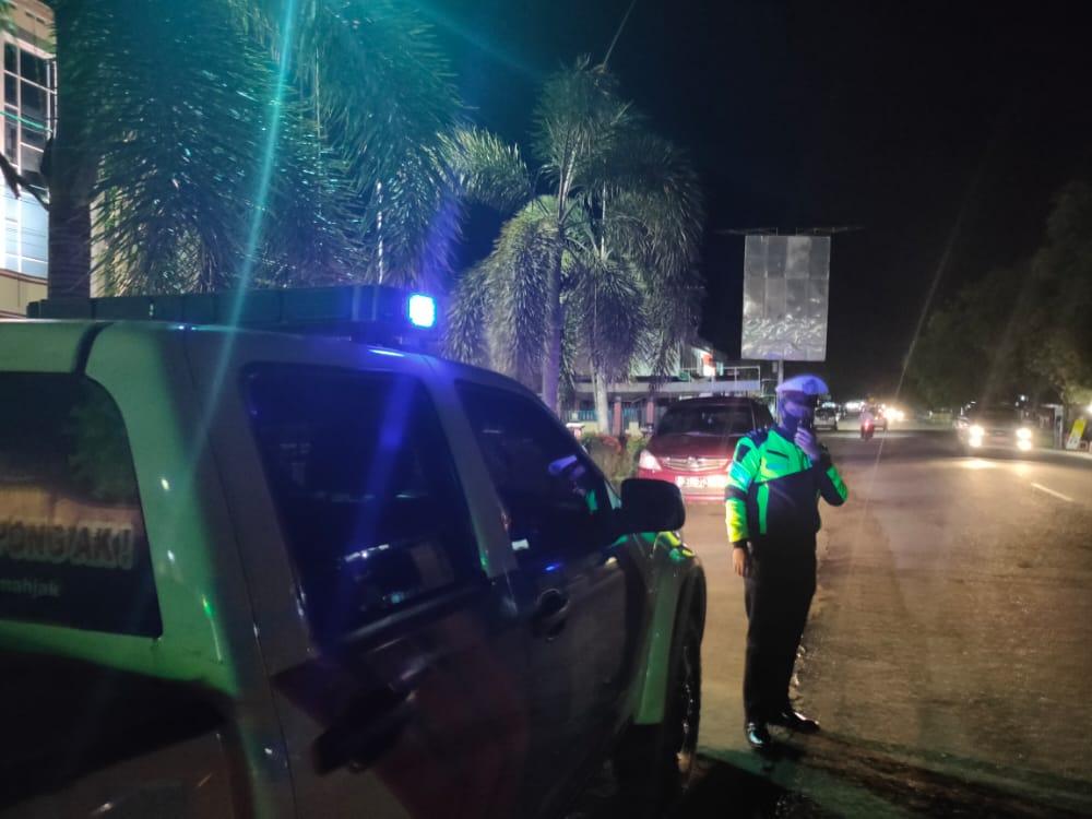 Cegah Kriminalitas, Anggota Satlantas Polres Ketapang Lakukan Patroli Malam Hari