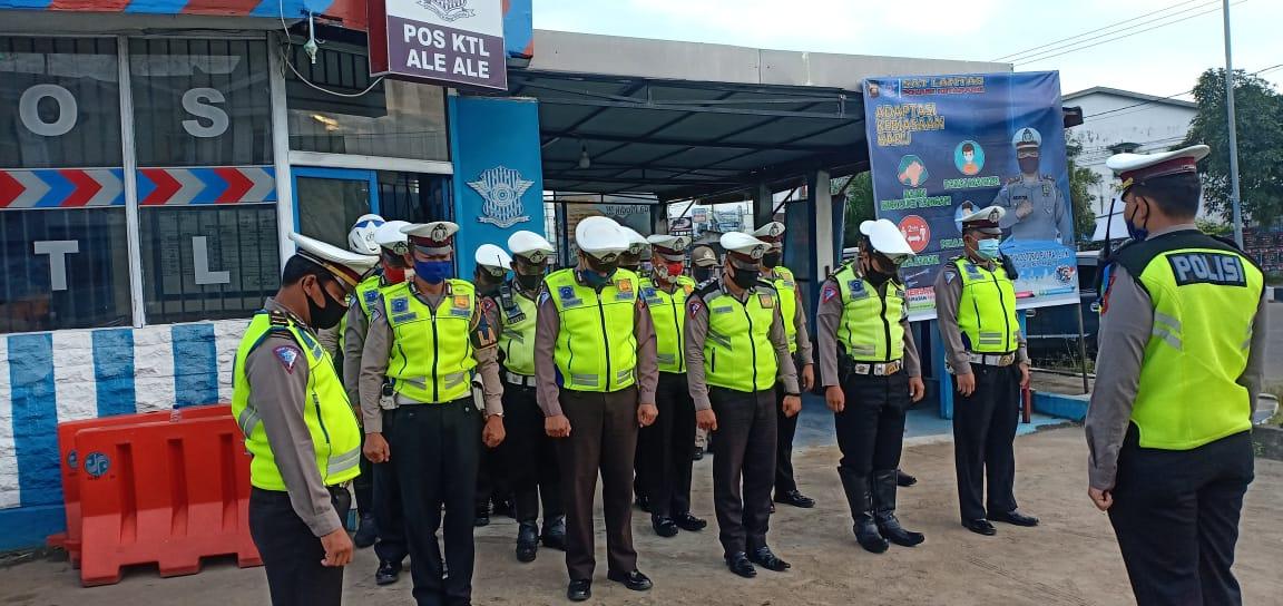 Tingkatkan Kedisiplinan KBO Satlantas Polres Ketapang Pimpin Apel Rutin Pagi Hari