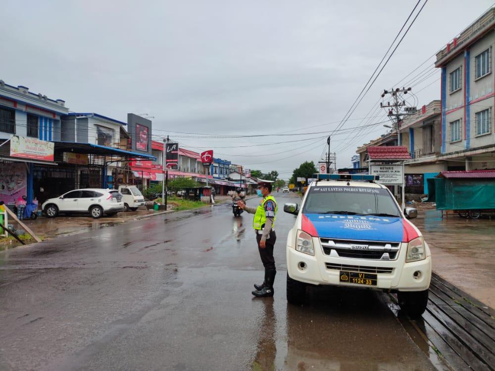 Satlantas Polres Ketapang Tingkatkan Patroli pagi Hari