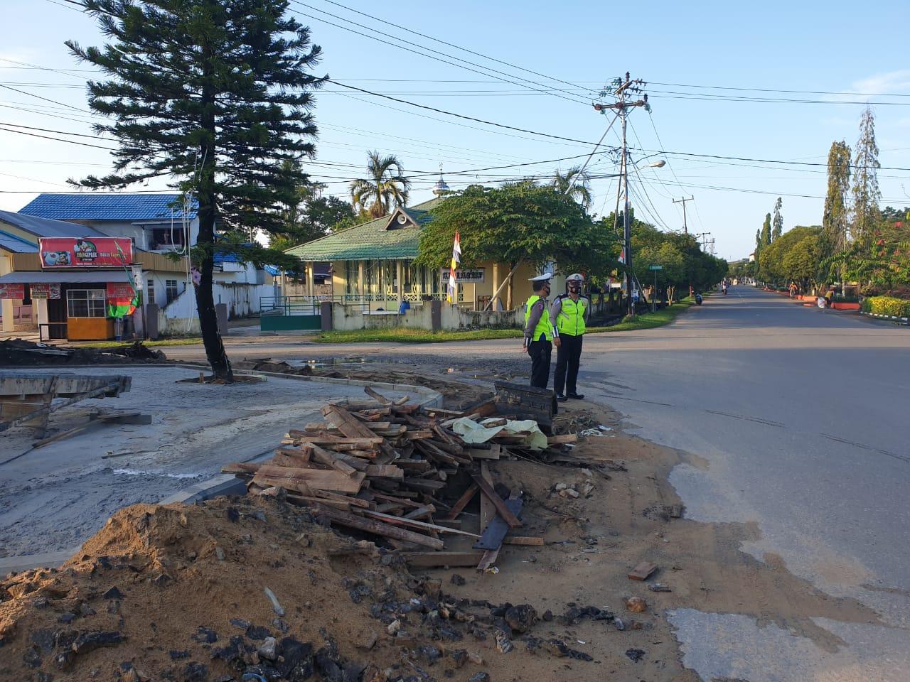 Sat Lantas Polres Ketapang Melaksanakan Ploting Pagi Rutin