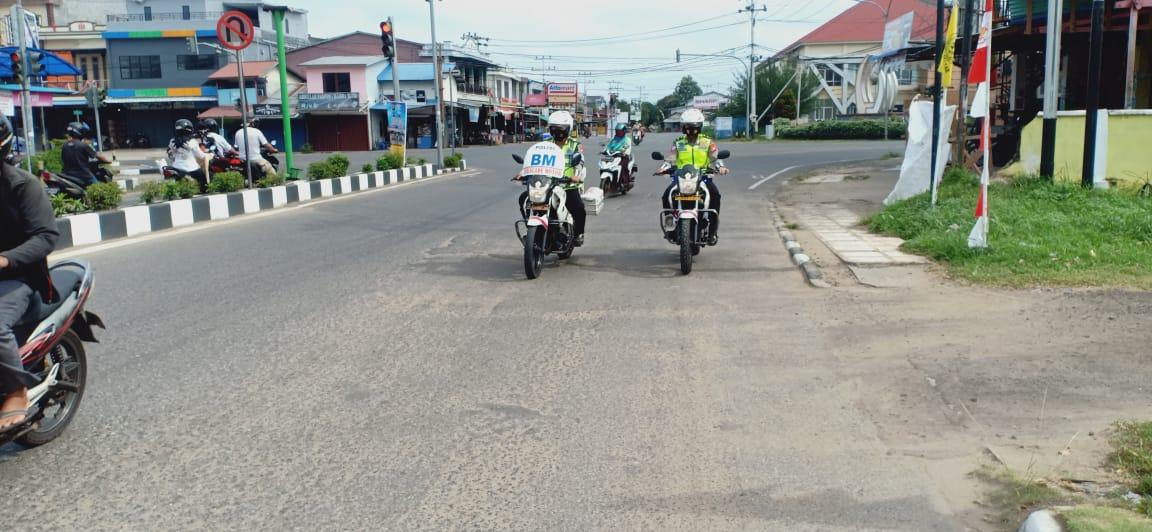 Piket Trujawali Sat Lantas  Polres Ketapang Patroli Siang Hari