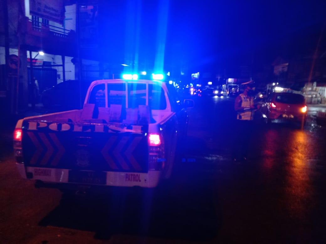 Cegah Tindak Kejahatan, Sat Lantas Polres Ketapang Rutin Laksanakan Giat Patroli Malam Hari