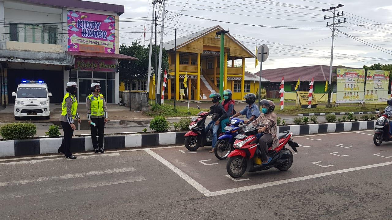 Ruang Henti Khusus Sepeda Motor di Sejumlah Ruas Jalan Kabupaten Ketapang Diciptakan Berjarak