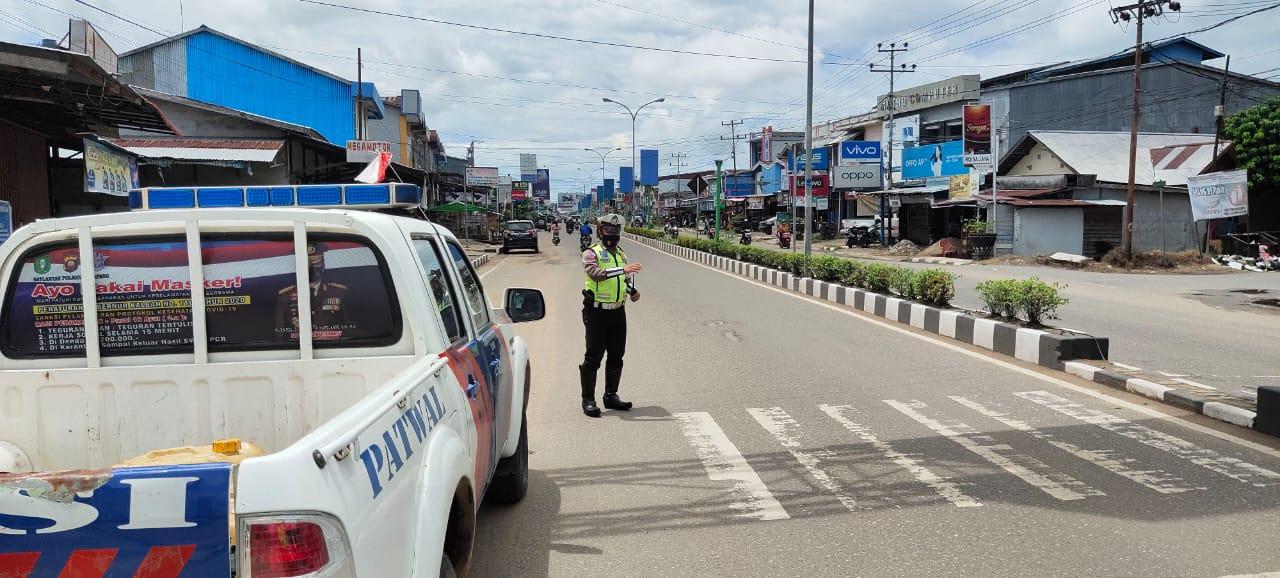 Cegah Kejahatan, Satlantas Ketapang Laksanakan Patroli Siang Hari