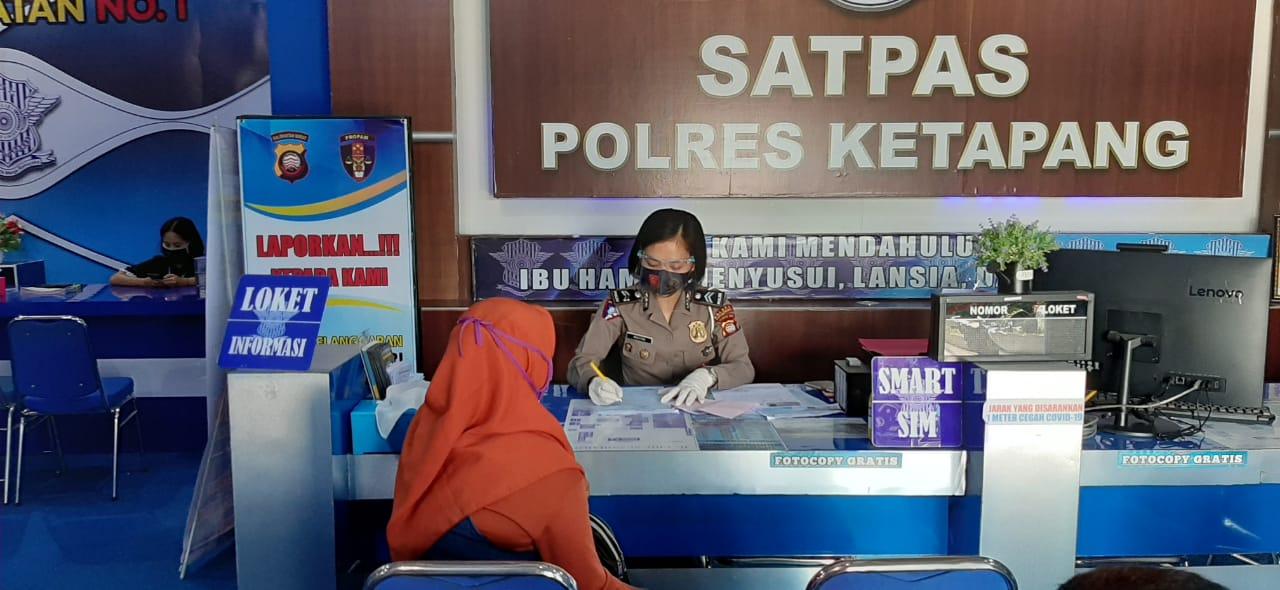 Pelayanan Satpas SIM Satlantas Polres Ketapang, Area Wajib Masker !!!