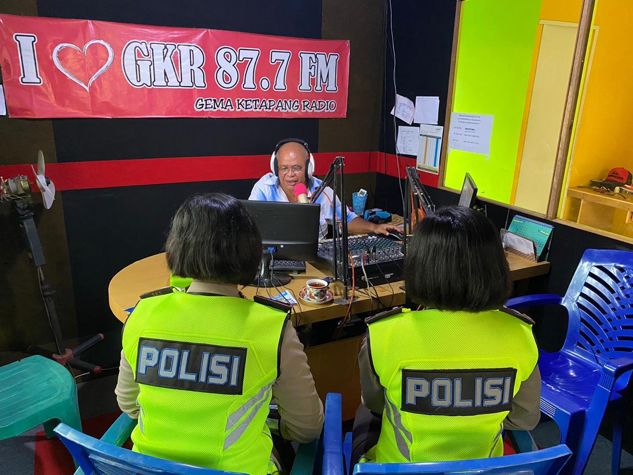 SIARAN LANGSUNG POLWAN SATLANTAS KETAPANG DI RADIO GKR 87.7 FM