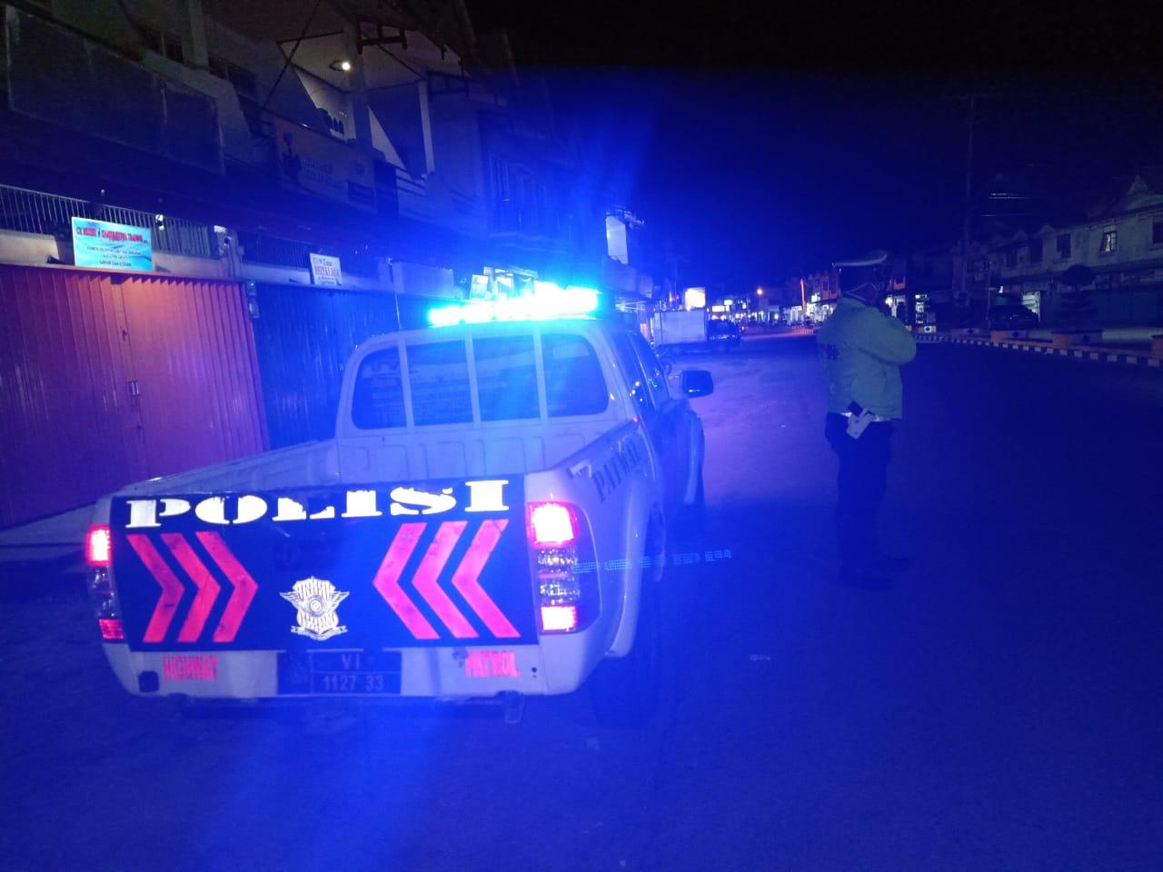 Blue Light Patrol Satlantas Ketapang Minimalisir Tindak Kejatahan Malam Hari