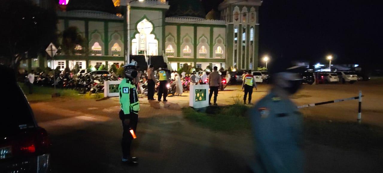 Satlantas Polres Ketapang Pam Tabligh Akbar di Masjid Agung Al-Ikhlas