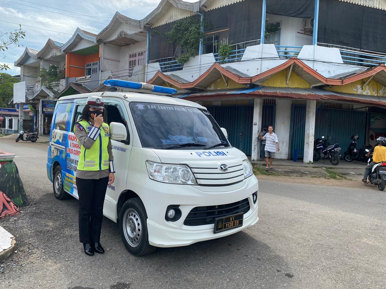 Satlantas Ketapang, Gencar berikan Penling kepada Masyarakat Kota Ketapang