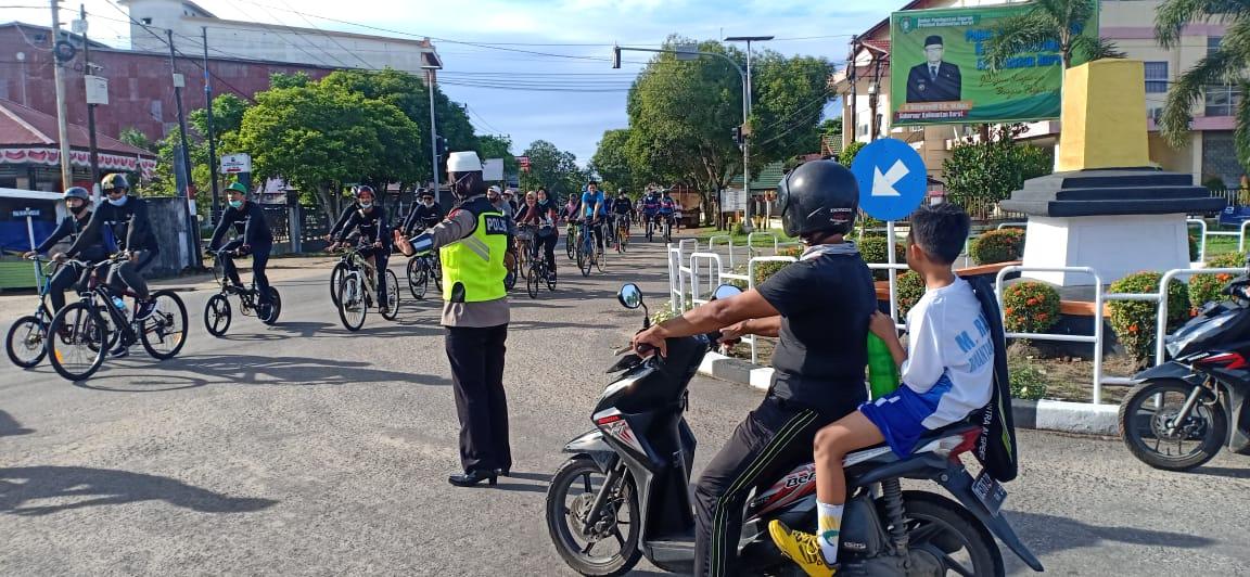 Satlantas Ketapang Laksanakan PAM Fun Bike
