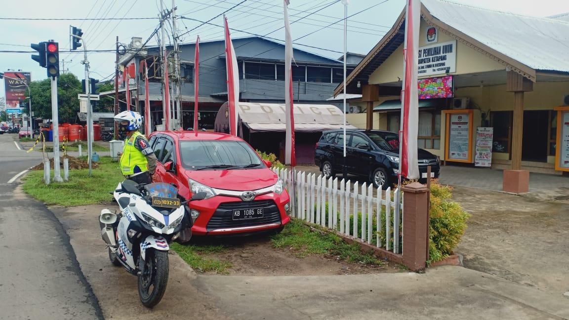 Patroli Cipkon Satlantas Ketapang, Tingkatkan Kegiatan Preventif, ke Kantor KPU