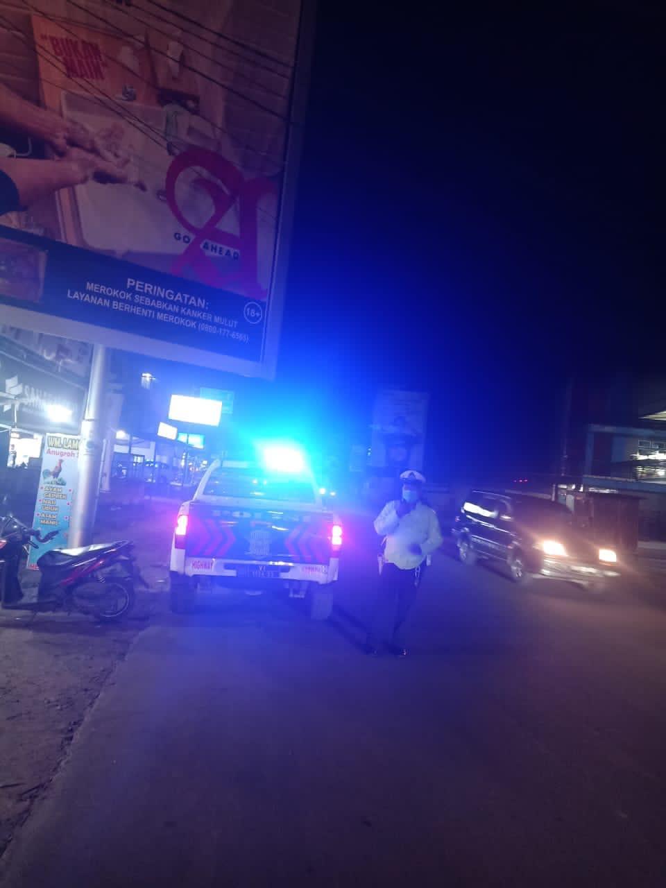 BLP blue light patrol Satlantas Ketapang cegah kiriminalitas jalanan
