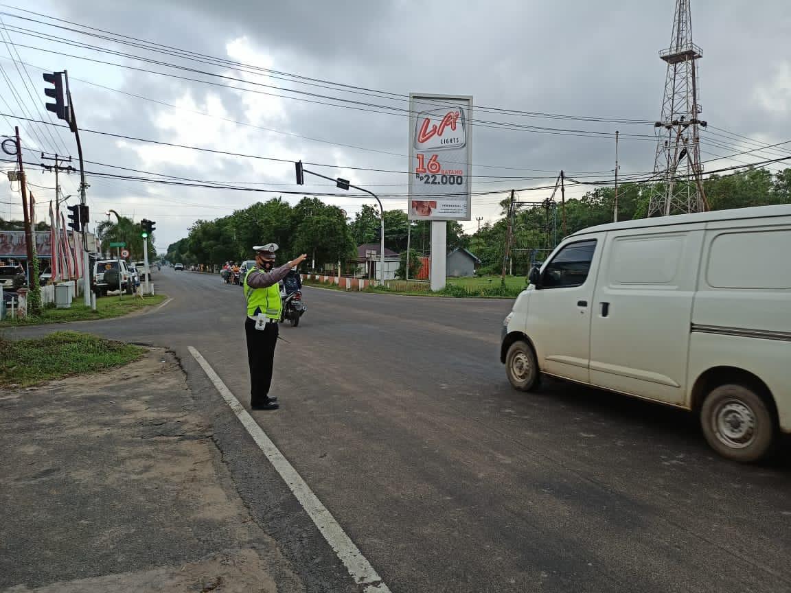 Pengaturan arus lalu lintas pagi, berikan rasa aman dan nyaman bagi pengguna jalan