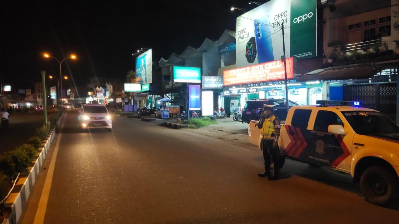 Patroli malam Satlantas Ketapang, ciptakan situasi kamtibmas yang aman dan kondusif