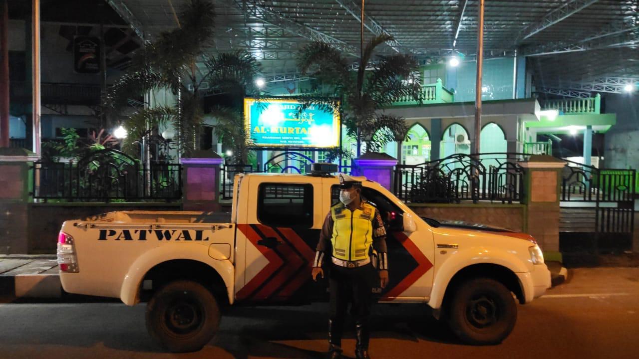 Patroli malam Satlantas Ketapang, jaga situasi kamtibmas masyarkat kota Ketapang