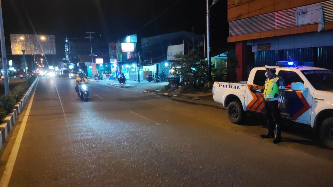 Patroli malam Satlantas Ketapang, cegah aksi kriminalitas jalanan