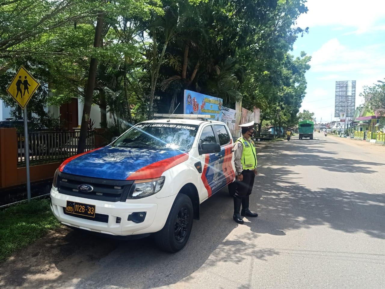 Satlantas Ketapang Lakukan Patroli Pagi Antisipasi Rawan Laka, Macet dan Langgar