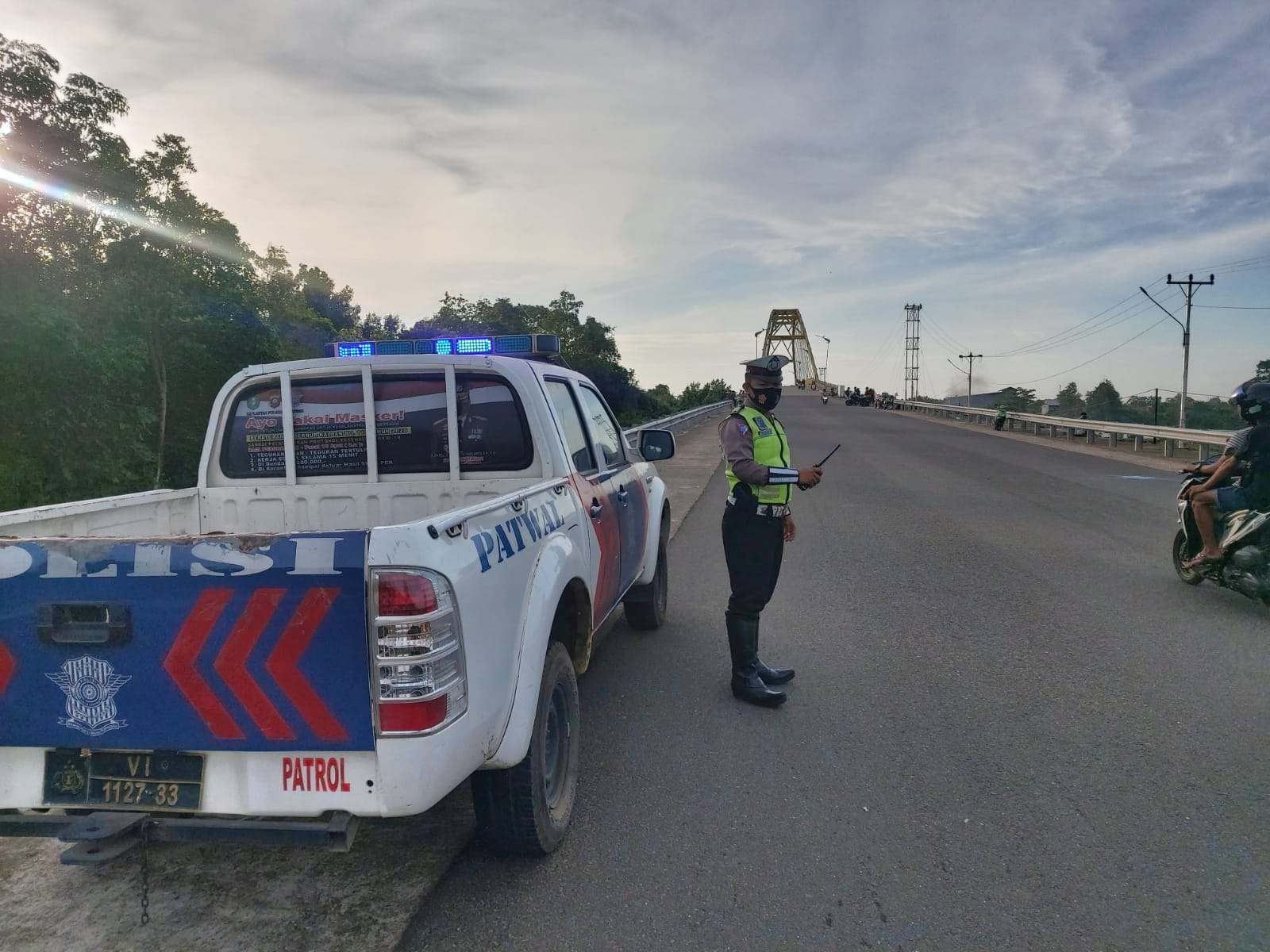 Patroli Jembatan Pawan 5 Tingkat Keamanan dari Balap Liar