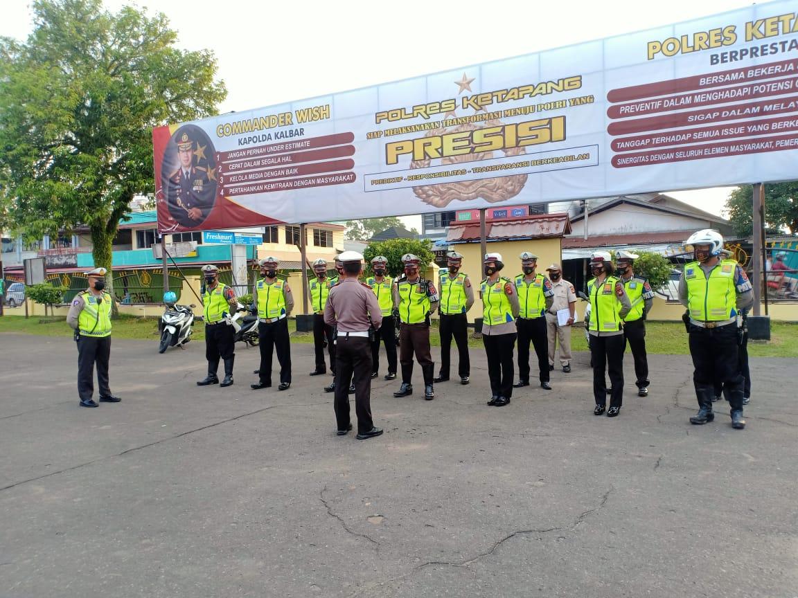 Tingkatkan Disiplin,Anggota SatLantas Polres Ketapang