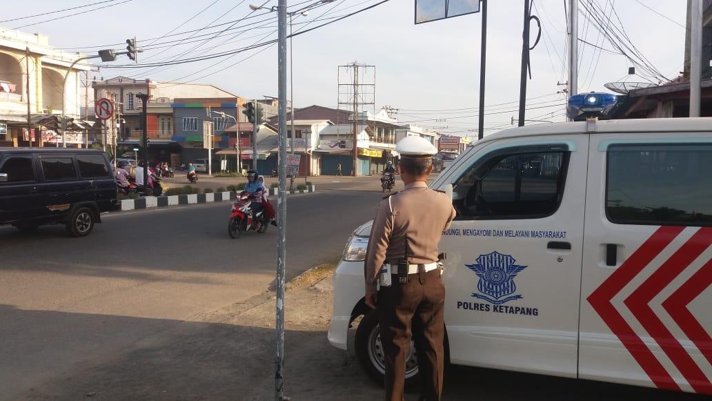 PENLING Tertib Lalu Lintas Unit Dikyasa Sat Lantas Polres Ketapang Di KTL Kota Ketapang